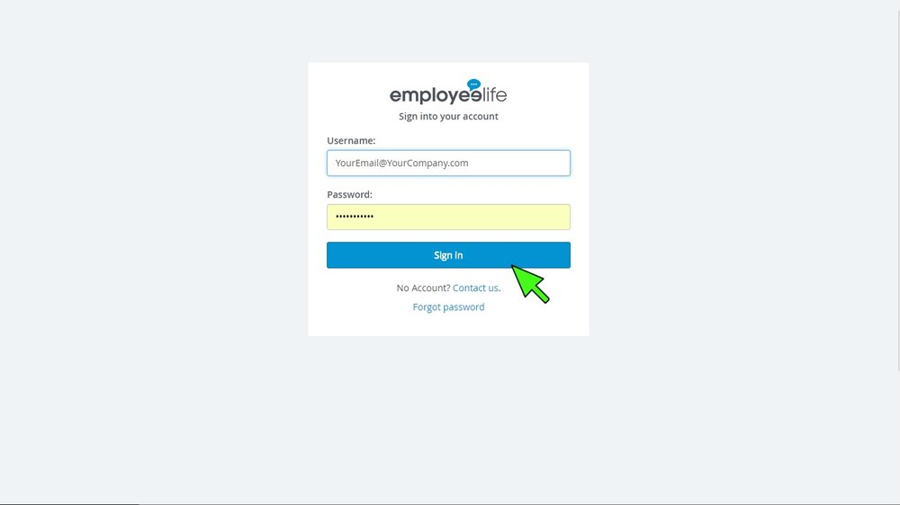 Step 1: Log in - Simply log in here with your unique account details  (username and password) sent to you via email.