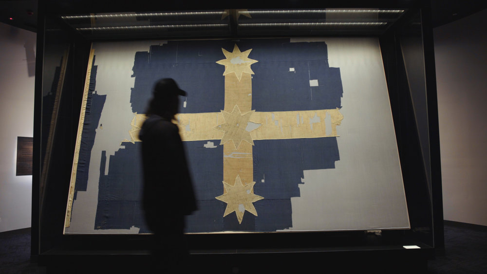 Warwick and the Eureka Flag at the Museum of Australian Democracy at Eureka