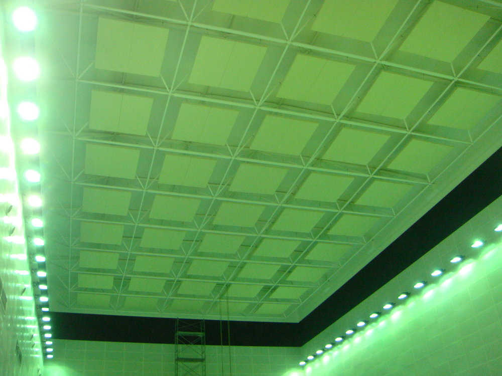 Ceiling Acoustcial Baffle of Beijing Taishan Hotel Tennis Hall