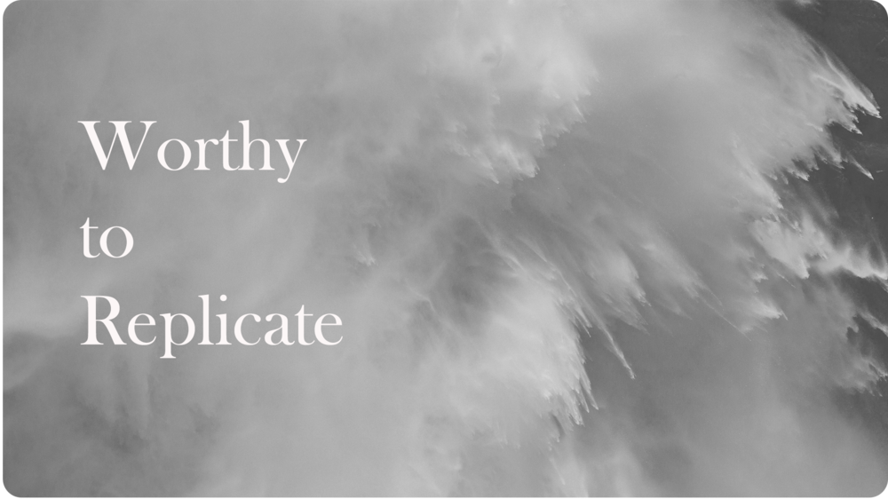 8 . Worthy to Replicate |25.02.18