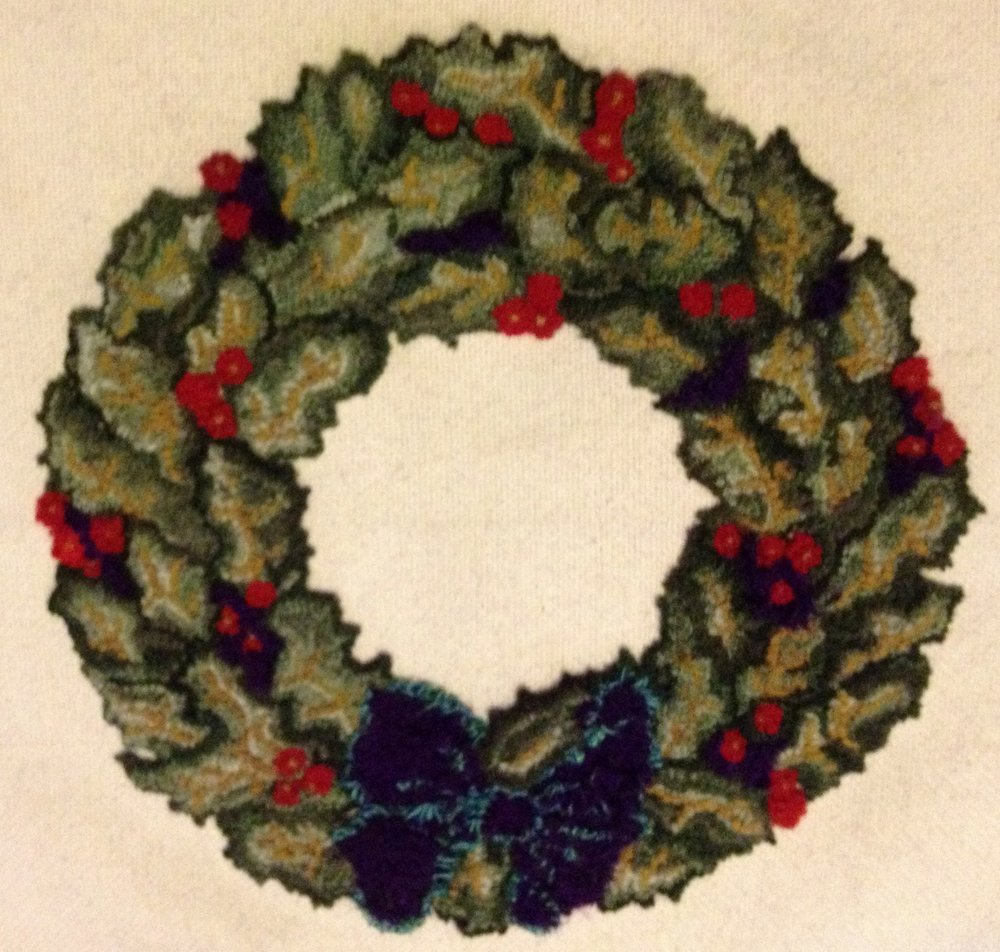 * Sold Holly Wreath 16 inch