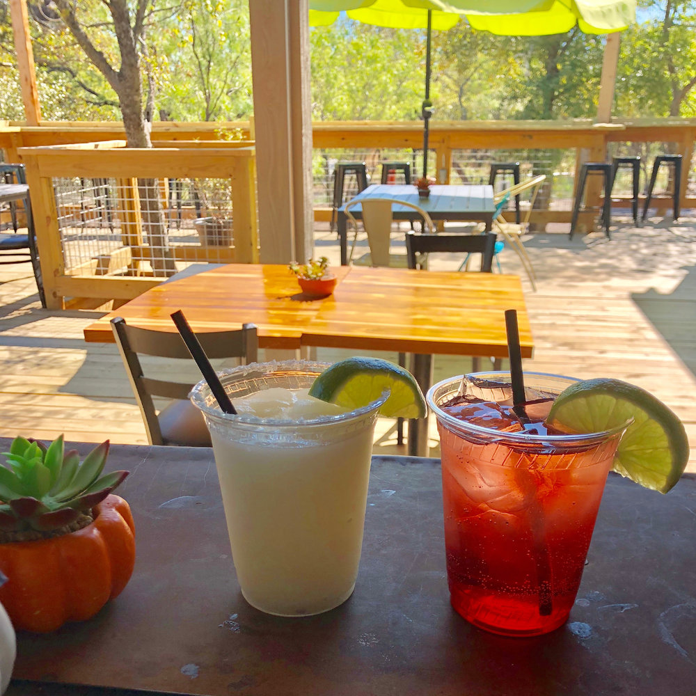 HANG OUT PATIO SIDE WITH DRINK IN HAND. - With a fun, eclectic vibe and a full bar featuring specialty drinks, this patio will be the place to come and hang out while you get your seafood fix! VIEW FULL MENU