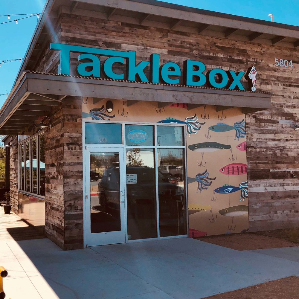 TACKLE BOX SEAFOOD - Not just any seafood shack, The Tackle Box serves up a variety of Cajun-style fare. Our menu includes gumbo, shrimp baskets, cod fish baskets, shrimp boils and even crawfish boils, when in season.