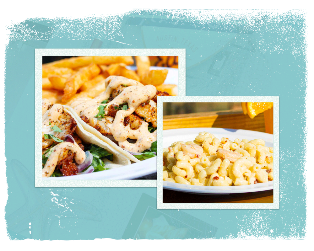 Tackle Box Favorites - Are you craving our delicious shrimp and bacon mac n cheese? How about our scrumptious shrimp tacos? Check out these Tacklebox favorites.
