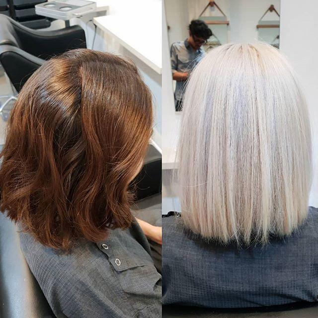 Hair Transformation in one sitting @kawadalambert #peoplehairdressing