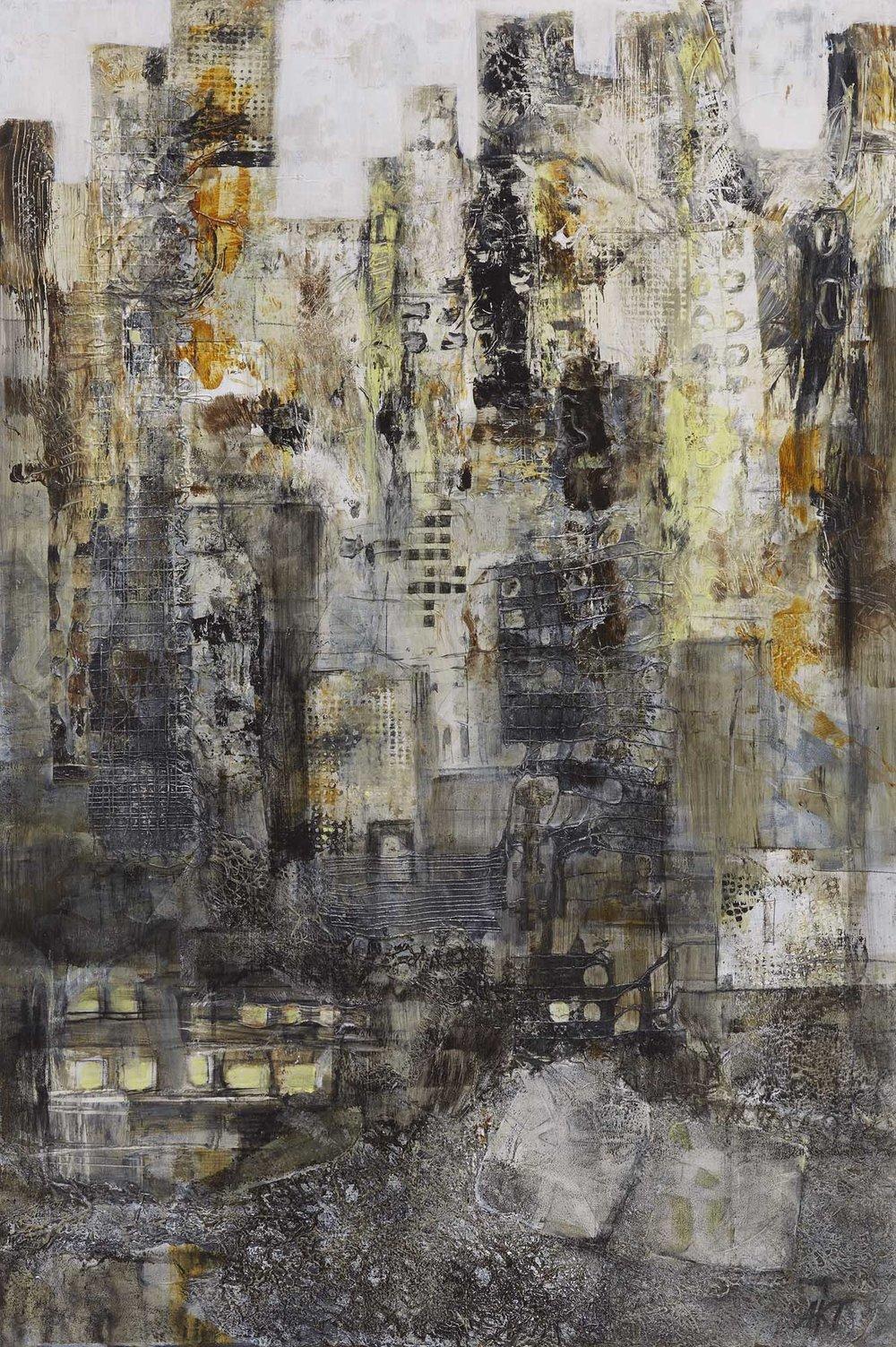 A City Awakens by St. Paul, MN multimedia artist, Amy Tillotson