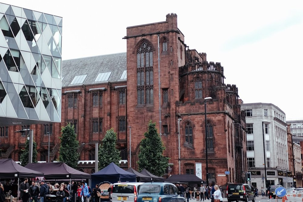 Day 12Manchester - Spinningfields Makers Market > John Rylands Library> Old Trafford (Manchester United Game)