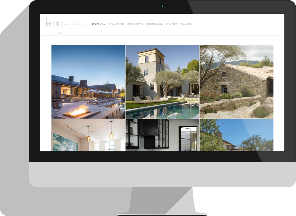 Leong Architects - A complete website redesign and new Squarespace build.GOAL: Create a more visual navigation through the site to allow potential clients to view the whole spectrum of projects and see the quality of work that Leong Architects produces.