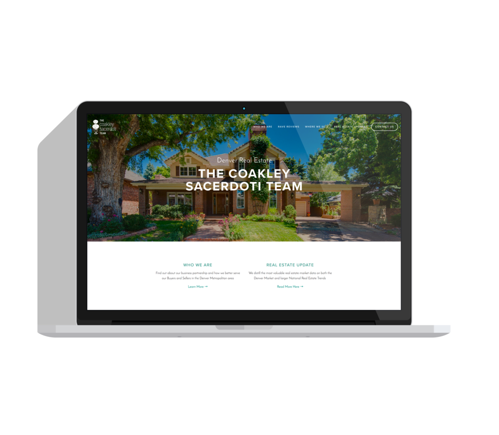 Coakley Sacerdoti Real Estate - A website built from the ground upGOAL: To create a story representative of the Coakley Sacerdoti Real Estate team. The website shows upcoming listings, their monthly blog/newsletter, and testimonials.