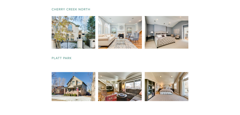 Gallery Display - We incorporated galleries to show off what neighborhoods Coakley Sacerdoti are primarily active in.This gives customers a better idea of the expertise of the Coakley Sacerdoti team.