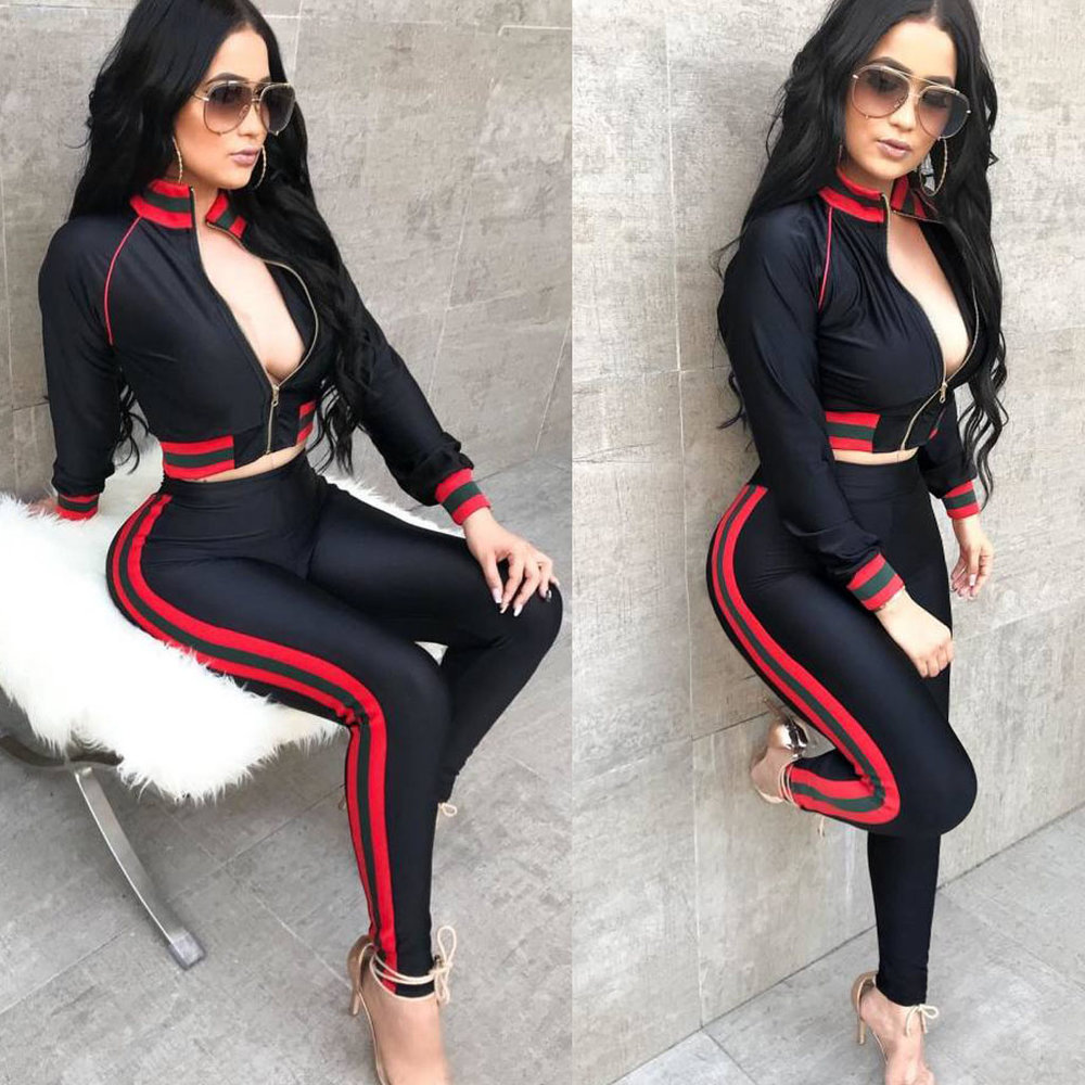 Sexy Curvy Tracksuit with Contrast Bands.jpg