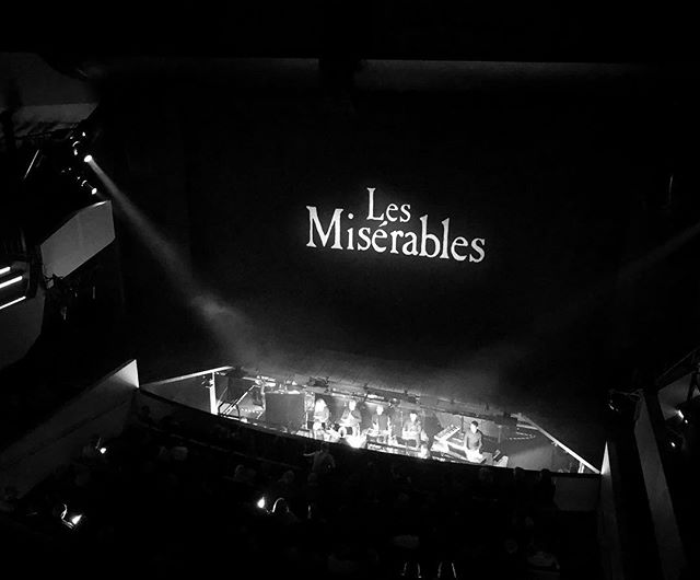 went to see les misérables for the fifth time! great singers, great production! 👏👏👏