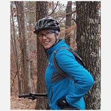 "Regine Northover, Treasurer  Madison, AL  treasurer@alabike.org   Regi's first introduction to cycling was in 2010, when she joined the Spring City Cycling Club after moving to Huntsville in 2005. This was an excellent ""move"" that satisfied her desire to become a road cyclist and also to connect to people and make new friends. She's edited the club newsletter since 2011, and was introduced to AlaBike via mutual SCCC board members Jamie Miernik and Morgan Andriulli. In 2015 she became the treasurer for the organization which led to a much-increased awareness of Cycling Advocacy and the need for it in Alabama. She enjoys recreational riding, organized centuries (mostly metric distance) or out-of-town rides, any top trails on her mountain bike, hiking, an occasional kayak trip on flat or moving water, and travel to interesting places near and far.  In her other life Regi is the Contracts Department Administrative Support for Dynetics in Huntsville."