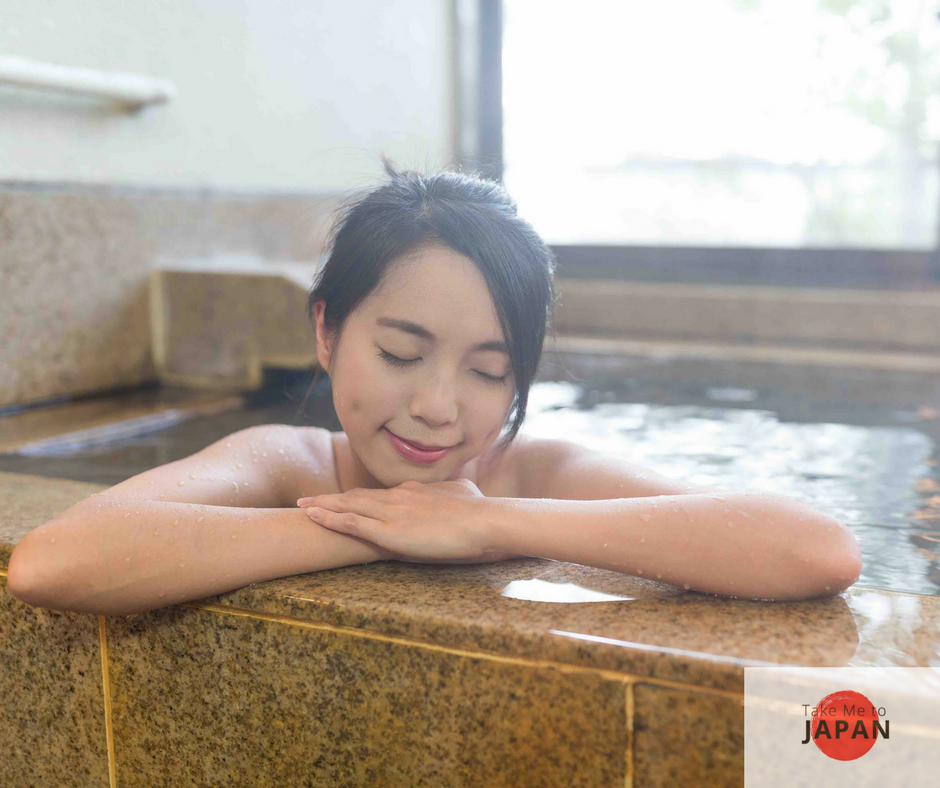 Relaxing in an onsen in Nagano