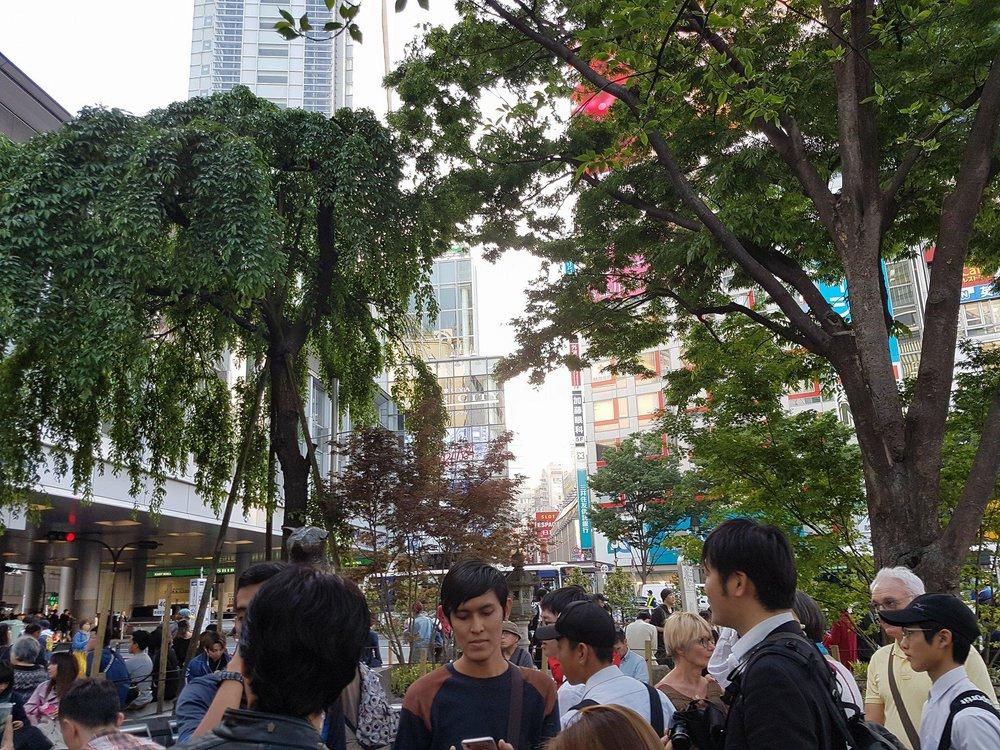 Hachiko statue, next to Shibuya station.
