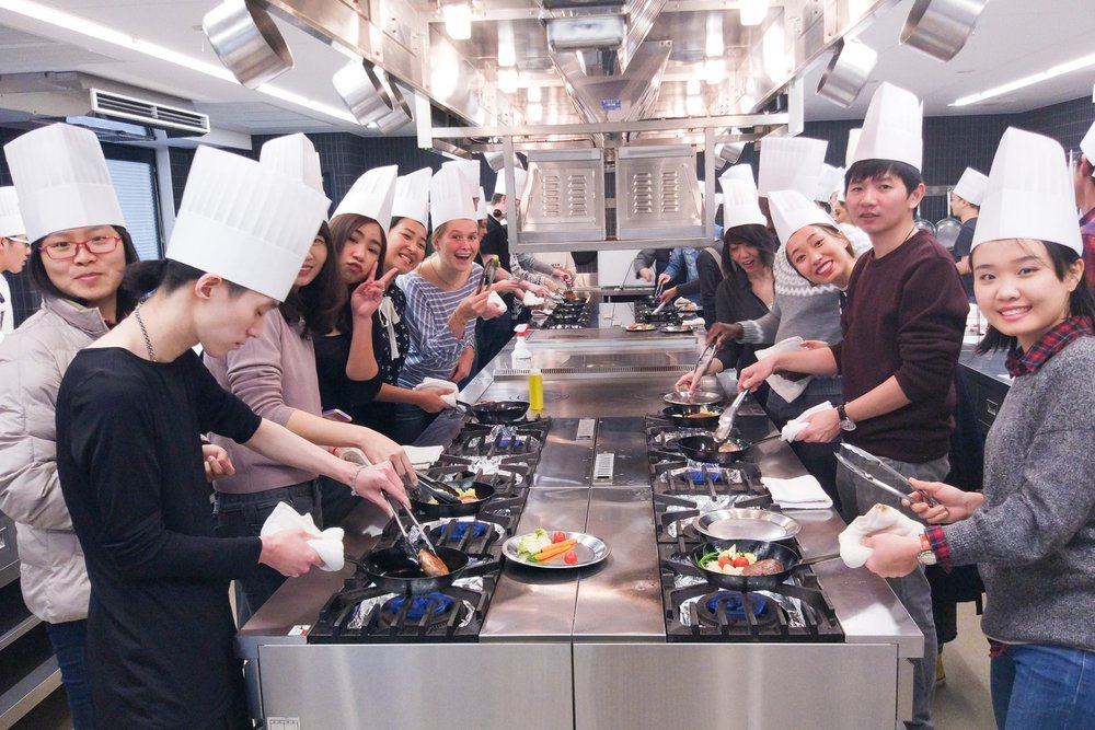 Japanese cooking classes - After the Conversation Course, you can do cooking lessons twice a week, making delicious meals and learning lifelong skills!Wednesdays and Fridays (14:30-16:30)Learn More
