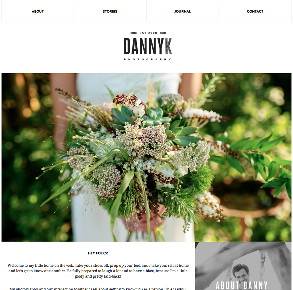 Danny K Photography's New Site