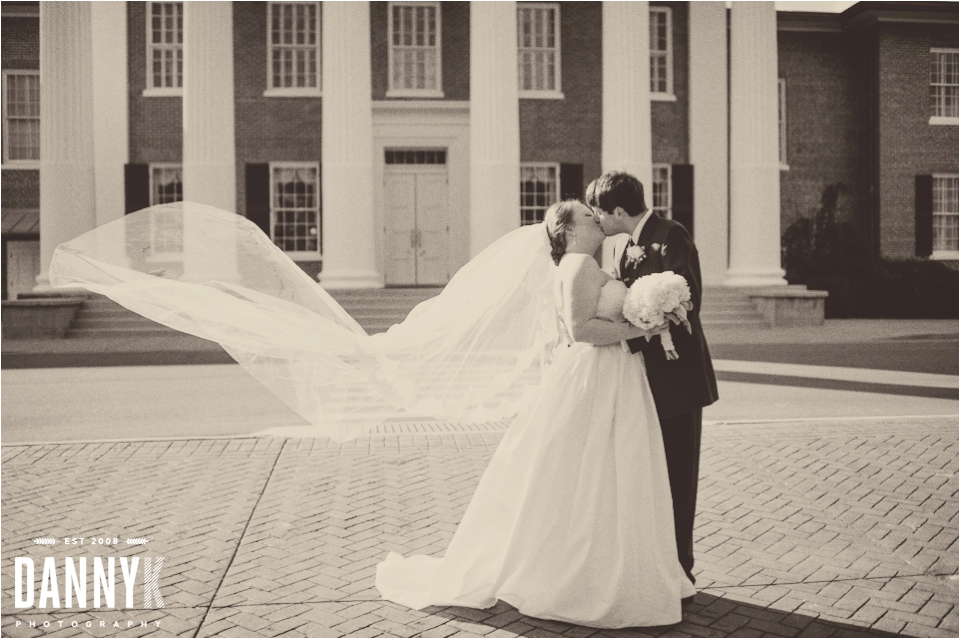Wedding Photography of Emily Gasson and Josh Lawrence at The Circle on campus of Ole Miss