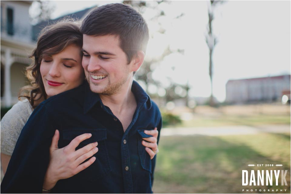 Oxford Mississippi Engagement Photography at the Memory House on the Ole Miss Campus