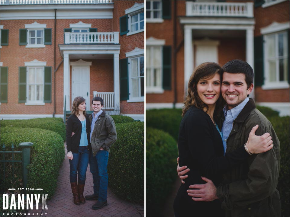 Oxford Mississippi Engagement Photography at the Barnard Observatory on the Ole Miss Campus