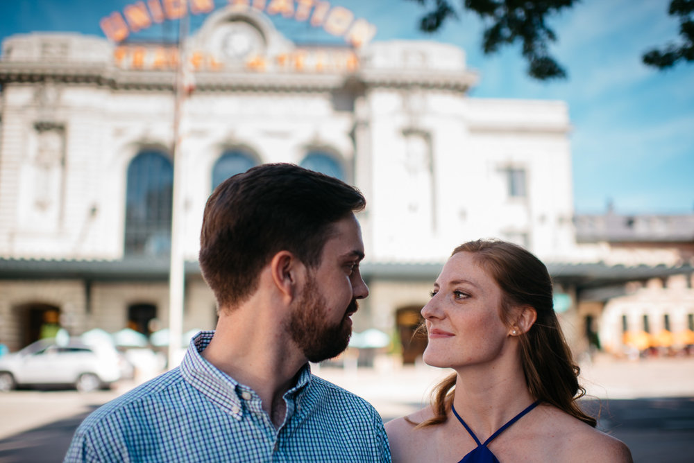 Downtown Denver engagement session by Union Station