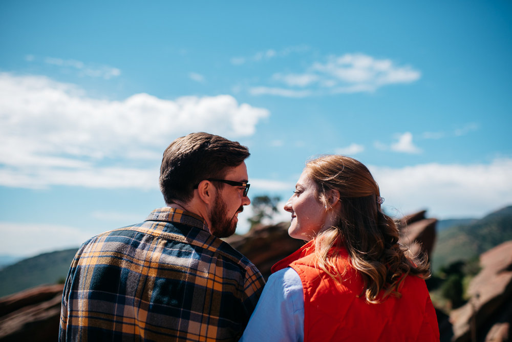 Denver engagement session at Red Rocks