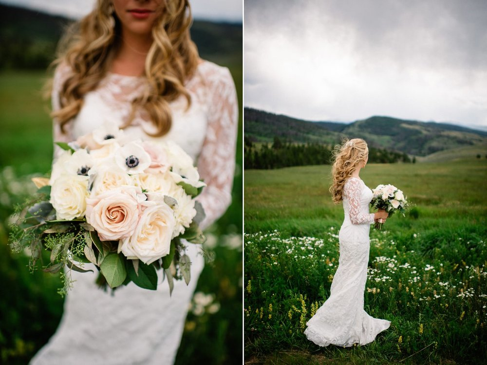 bridal destination wedding photography at strawberry creek ranch in granby colorado