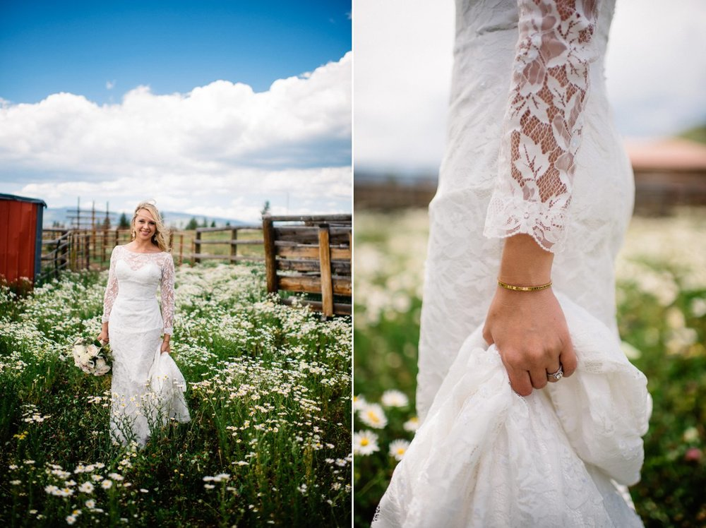 bride destination wedding photography at strawberry creek ranch in granby colorado