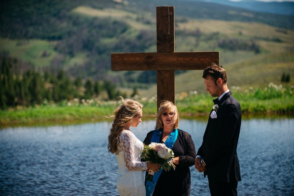 ceremony destination wedding photography at strawberry creek ranch in granby colorado