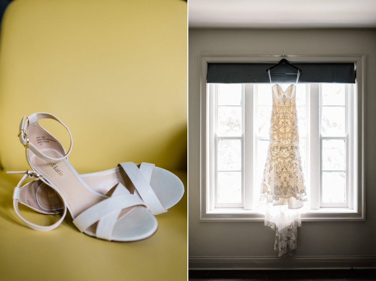Wedding dress and shoe, Biloxi gulf coast mississippi wedding photography