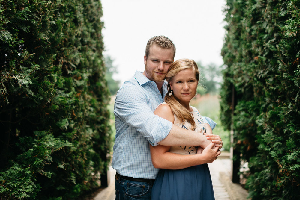 destination Engagement photography at  Lurie Garden in Chicago
