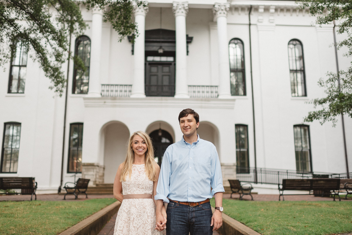 Mississippi engagement photography on the Oxford Square