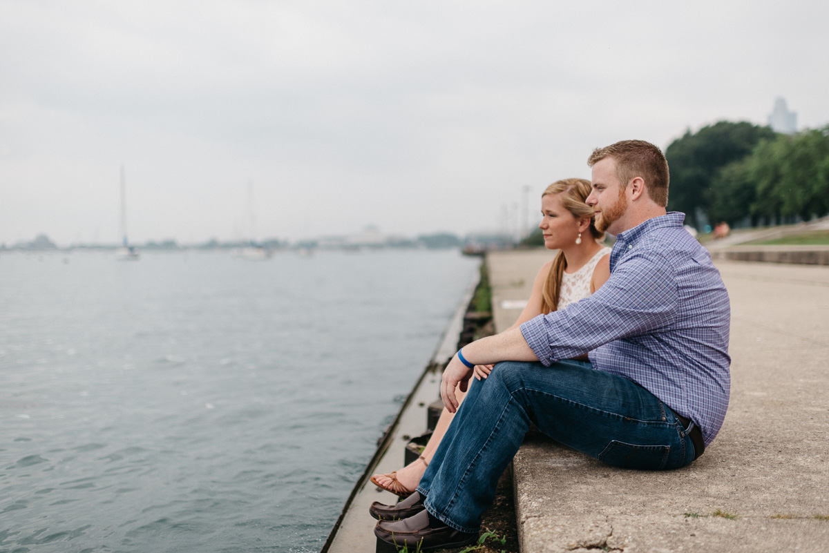 destination Engagement photography at Lake Michigan in Chicago