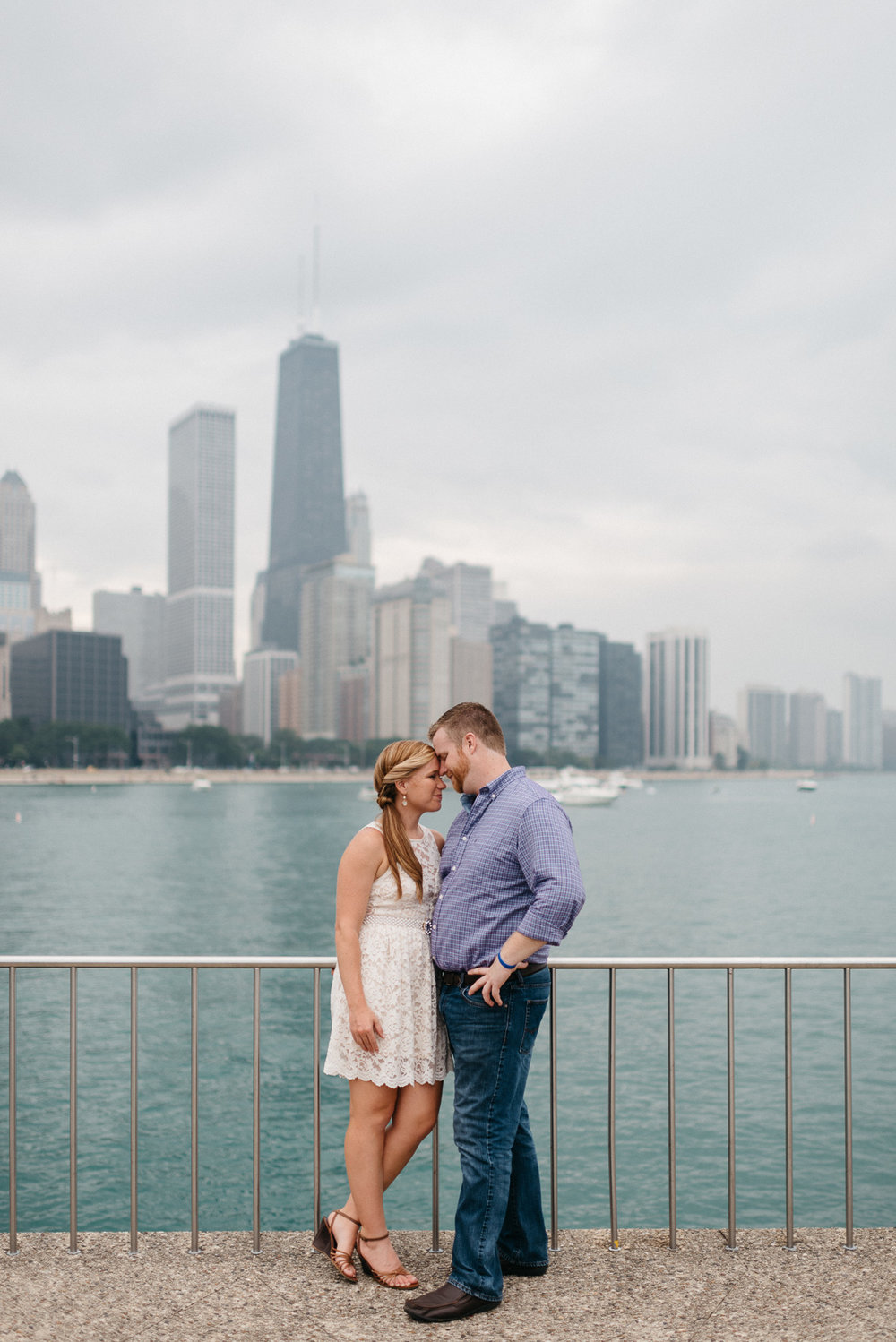 destination Engagement photography at milton olive park in Chicago