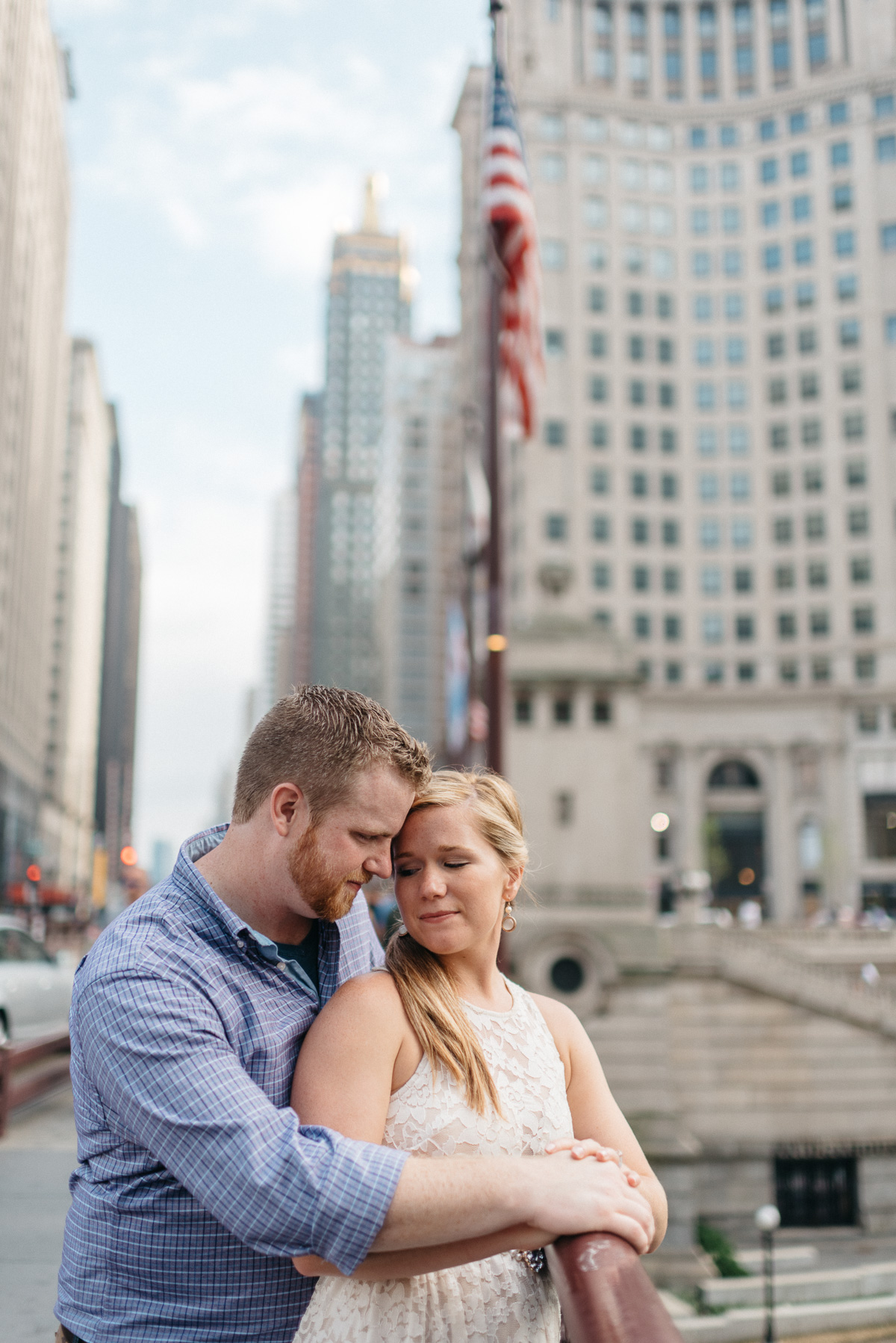 destination Engagement photography in downtown Chicago