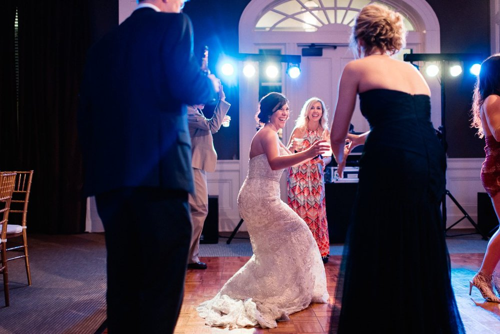 reception photography at biloxi visitors center by biloxi mississippi wedding photographer