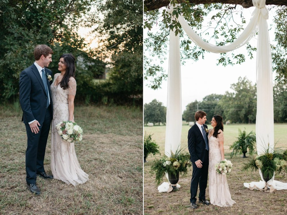 bride and groom  wedding day portraits at southwind venue, mississippi wedding photography
