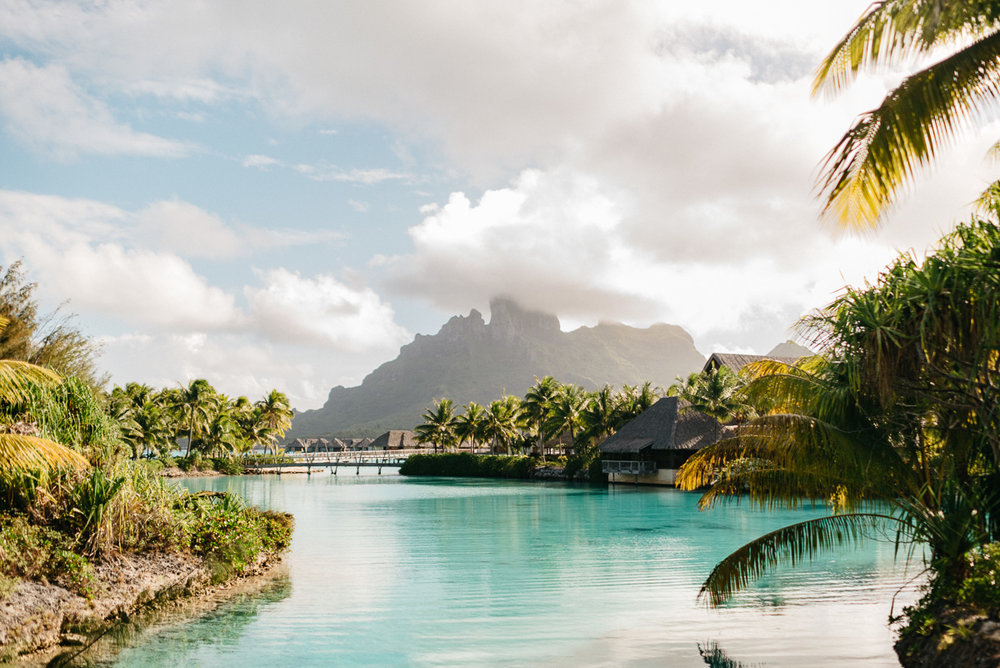 Destination Honeymoon photography at the Four Seasons resort in Bora Bora