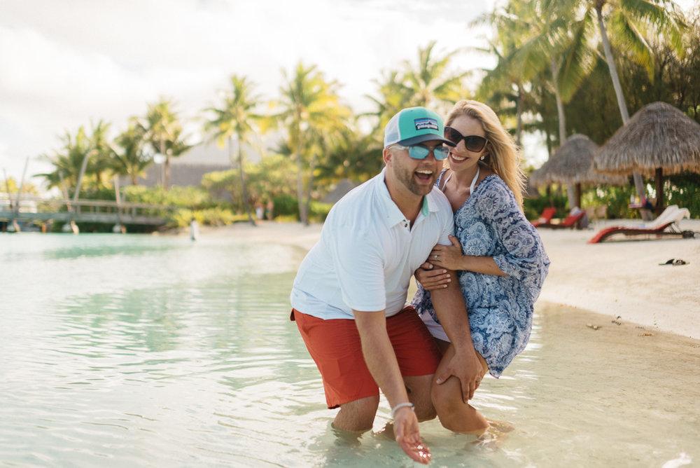 Destination Honeymoon photography at the Four Seasons resort in Bora Bora