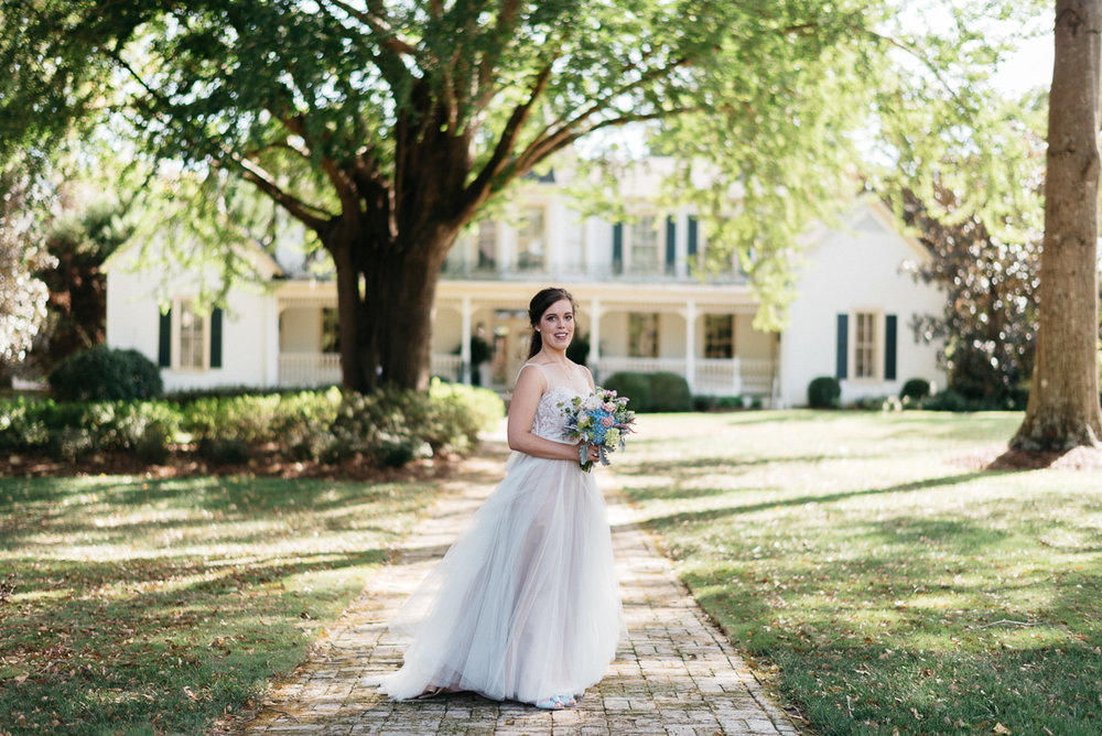 University of mississippi wedding photography, BHLDN wedding dress