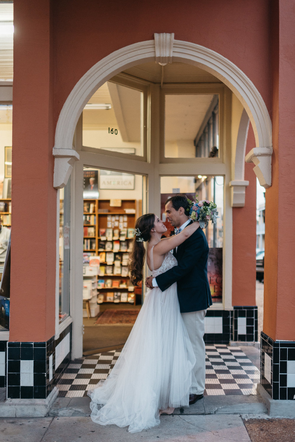 wedding photography at square books in oxford mississippi