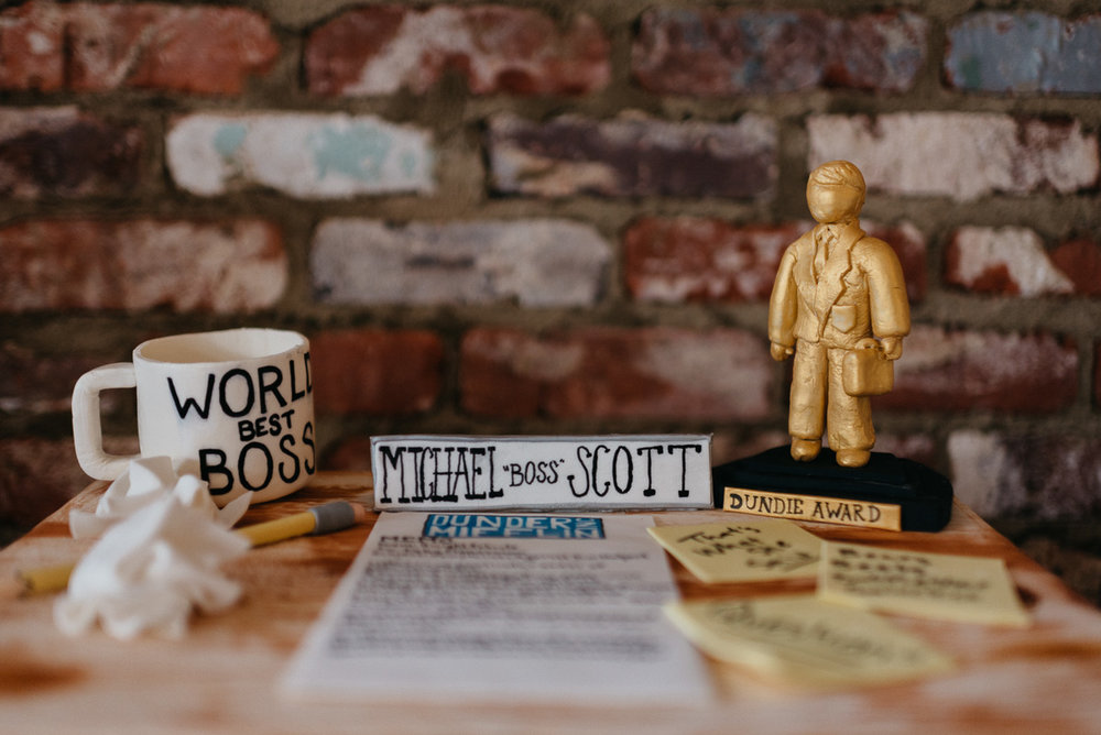 michael scott the office grooms wedding cake