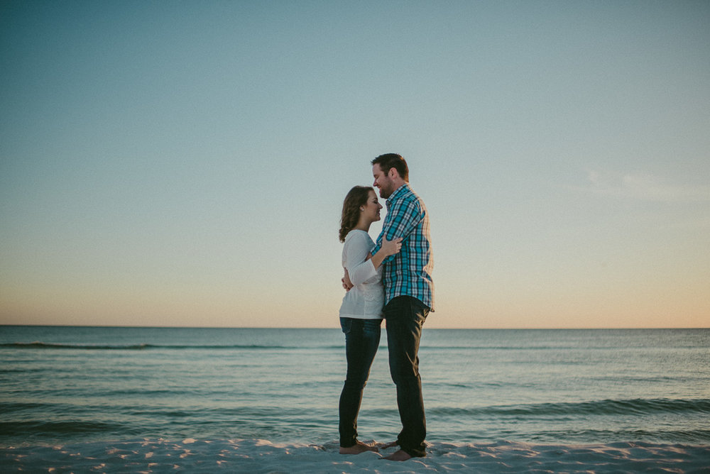 Destiniation Engagement photography on the beach at Seaside, Fl