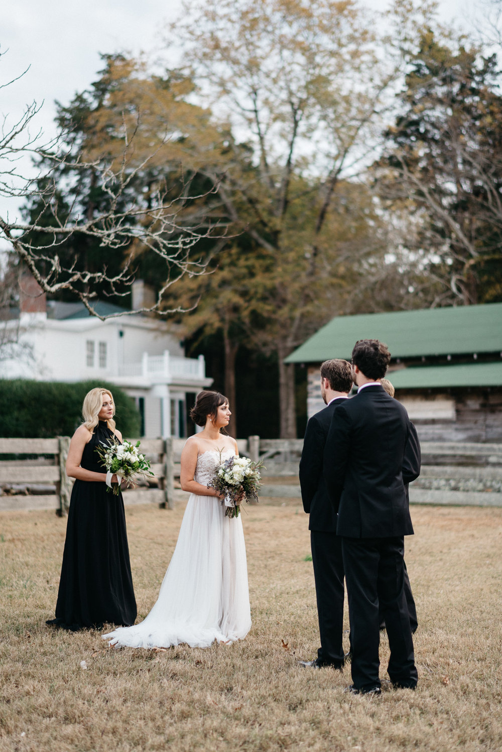 Elopement wedding photography on the grounds at Rowan Oak, Faulkner's home