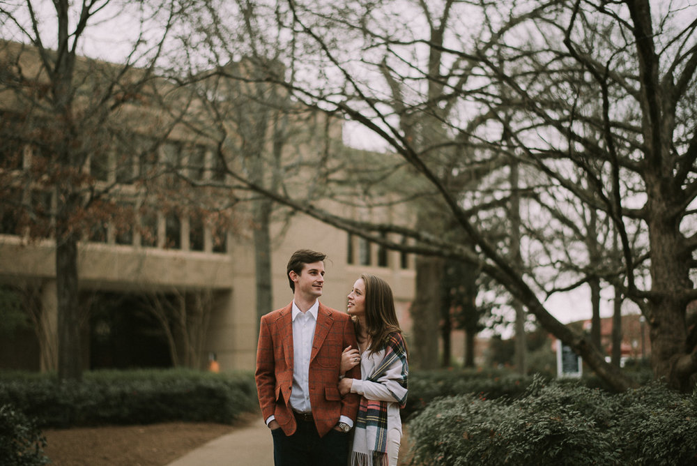 the ole miss campus engagement Photography