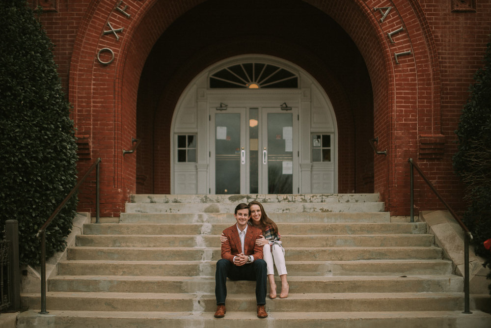 The oxford square mississippi engagement Photography