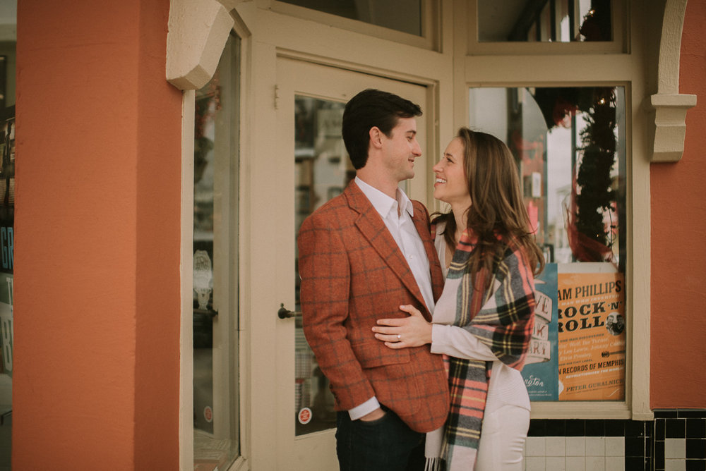 The oxford square books mississippi engagement Photography