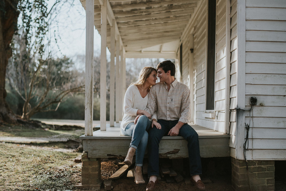 Mississippi engagement photography at rowan oak in oxford ms