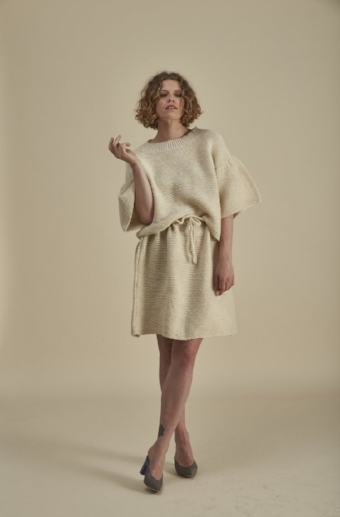 Oyster Jumper and Skirt. Image by Michael Ng.