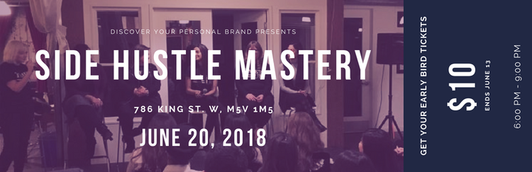 Passion, Purpose & Value - This side hustle event is in collaboration with DYPB. Kira Day will be speaking about how to align Passion, Purpose and Value to side hustle ventures. Sign Up Below:https://startupheretoronto.com/event/side-hustle-mastery/